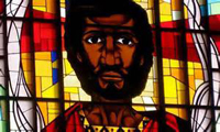 Black Jesus painted by Ethiopian Christians in Africa